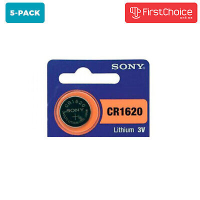 5 NEW SONY CR1620 FRESHLY NEW 3V Lithium Coin Battery Exp 2026 USA FREE SHIPPING