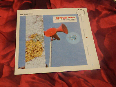 DEPECHE MODE NEVER LET ME DOWN AGAIN.. marble vinyl LIMITED EDITION