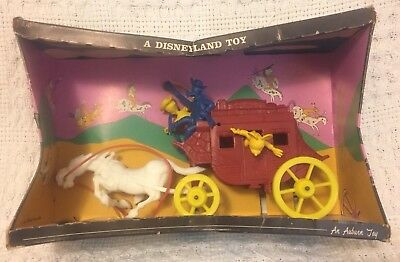 Walt Disney Character Stage Coach Auburn Toys 1961 Complete in Box Rare