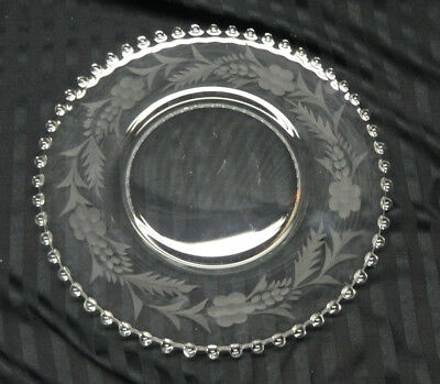 """Imperial Candlewick 1 Dinner Plate 10 1/2"""" Cutting"""