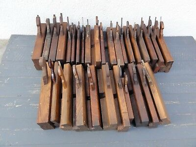 31x Antique Wooden Moulding Planes Old Vintage Woodworking Tools Mixed Lot