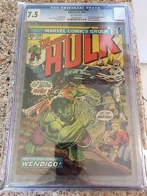 Incredible Hulk #180 CGC 7.5 Marvel 1974 First 1st Wolverine in Cameo