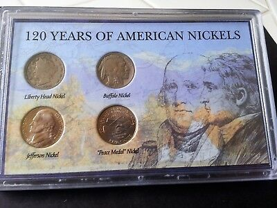 Nickel Collection – 120 Years of American Nickels – 4 coin set