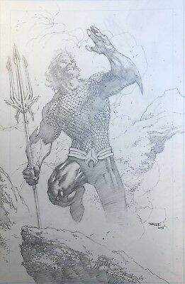 Justice League 10 Jim Lee Pencils 1:25 Aquaman Variant Nm Pre-Sale 10/17