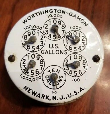 Vintage Worthington-Gamon Water Meter Dial Newark, NJ
