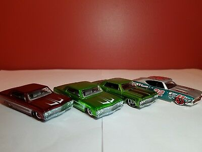 Lot of 4 Hot Wheels Chevelle's 1964 & 1969 Includes 2 treasure hunts Very Nice