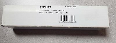 Black 2-pack Thermal Fax Roll Compatible with the Panasonic KX-FA91 KXFA91 FA91