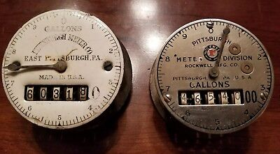 Vintage Water Meter Dials Steampunk Rockwell and Pittsburgh Meter Co.