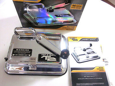 New Top-O-Matic T2 The World's Toughest Cigarette Rolling Machine - All Metal