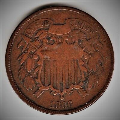 1866-P Two Cent Piece - VG