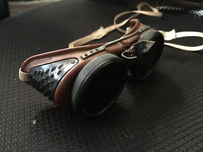 Antique Welding Motorcyle Goggles