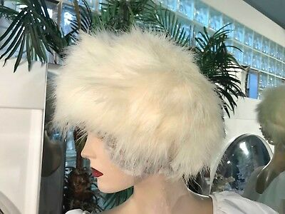 VINTAGE 1950s to 1960s OSTRICH FEATHER HAT BUCKET CLOCHE Phyllis Diller Style