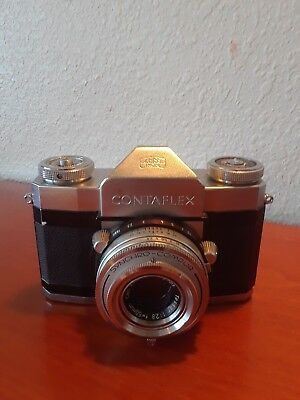 VINTAGE Zeiss Ikon Contaflex 35 mm Camera In Excellent Condition With Case