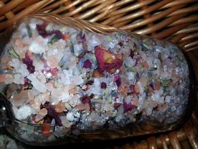 Luxury Relaxing Herbal Bath Salt- Relax Refresh Healing with Lavender Rose Salts