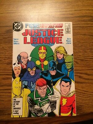Justice League #1 NM+ High Grade DC 1987 First Maxwell Lord Nice! JLA