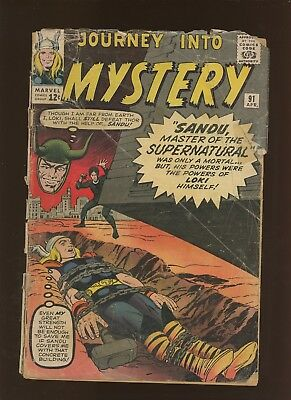 Journey Into Mystery 91 FR 1.0 * 1 Book Lot * Thor! 1st Valkyries! Steve Ditko!