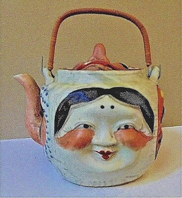 "Antique Japanese Banko ""many Faces"" Teapot - Excellent Condition"