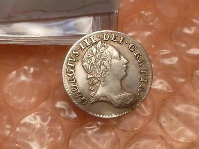 1763 George III Colonial Silver Maundy Threepence Has Detail #1