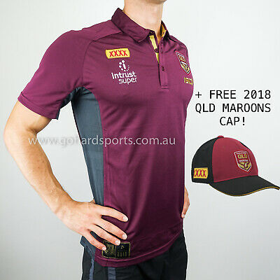 QLD Maroons 2018 State of Origin Performance Polo Sizes (S - L) **BNWT**