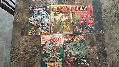 Silver Age War Comic lot (8 issues)