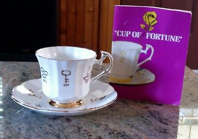 "Taylor & Kent for Red Rose Tea ""Cup of Fortune Porcelain Footed Cup & Saucer"