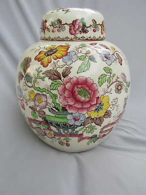 Antique Masons Nabob Ironstone Ginger Jar