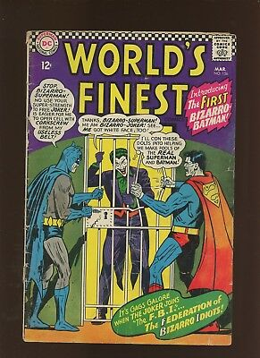 World's Finest Comics 156 GD+ 2.5 * 1 Book Lot * 1st Bizarro Batman!