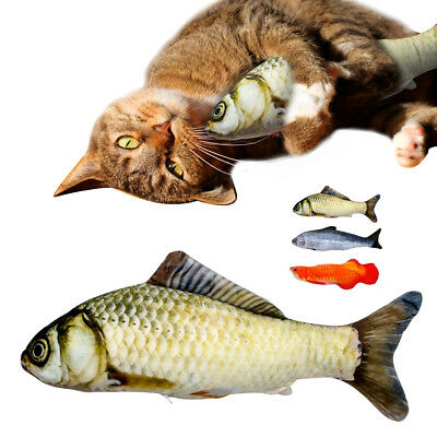 Funny Pet Kitten Cat Fish Shape Mint Grass Chewing Play Catnip Scratch Toys