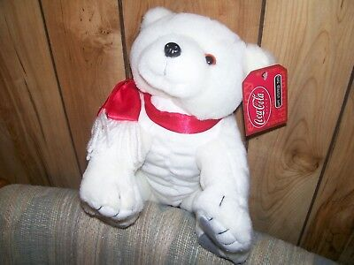 Official Coca Cola Soft Stuffed Toy Plush Polar, New, 10 Inches Long