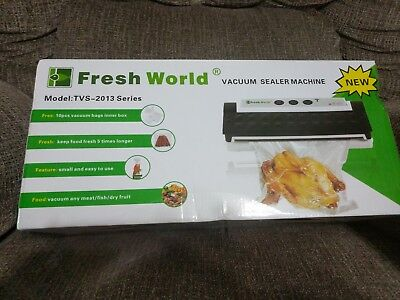 Fresh World Professional Vacuum Sealer, Silver, with bags