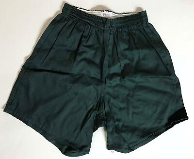 Vintage Men's Classic Champion Gym Running Shorts Dk Green Sz Med USA