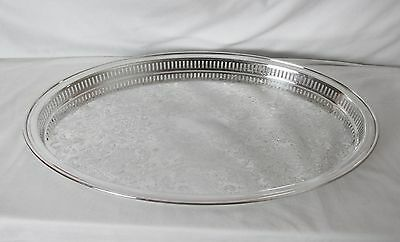 Xl Silver Plated Galley Tray Exceptional Entertaining Piece For Your Home