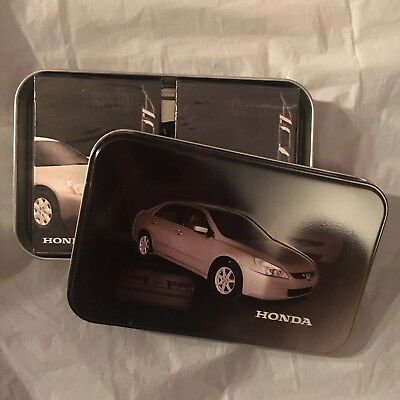 (2) decks HONDA ACCORD playing cards in LTD ED COLLECTOR TIN-2003--decks SEALED