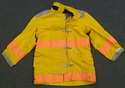 36x35 Firefighter Jacket Bunker Turnout Body-Guard Yellow Coat No Liner J638