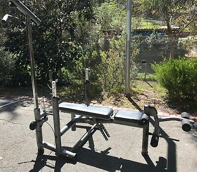 BENCH PRESS-Infiniti Premier Foldable Weight Bench-Leg Extension& Lat Pulldown