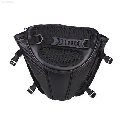 F4EA Leather Waterproof Motorcycle Tail Tank Bag Saddle Storage Bag Gadgets Hold