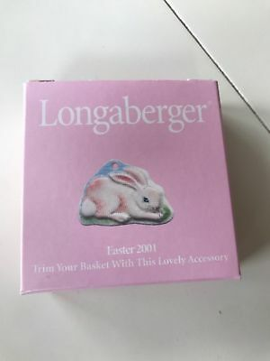 """Longaberger Tie - On """"EASTER BUNNY 2001"""" -New In Box"""