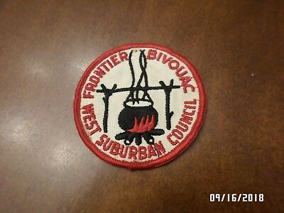 VINTAGE Boy Scout BSA Patch FRONTIER BIVOUAC WEST SUBURBAN COUNCIL