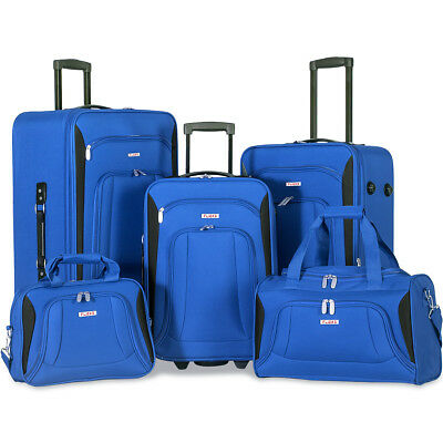 Merax 5 Piece Luggage Set Deluxe Expandable Rolling Suitcase Travel Fashion