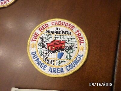 VINTAGE Boy Scout BSA Patch THE RED CABOOSE TRAIL DUPAGE AREA COUNCIL
