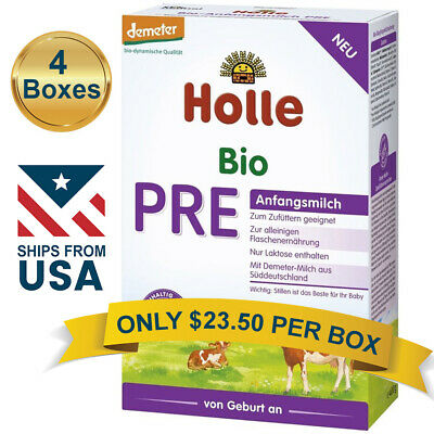 4 BOXES Holle Cow Milk Stage PRE Organic Formula (400g) FREE SHIPPING