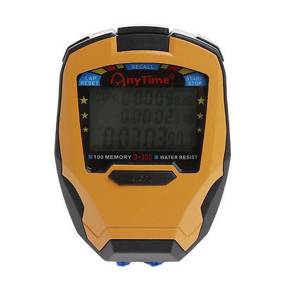 Stopwatch Digital LCD Running Sport Timer Counter Chronograph Alarm With Strap