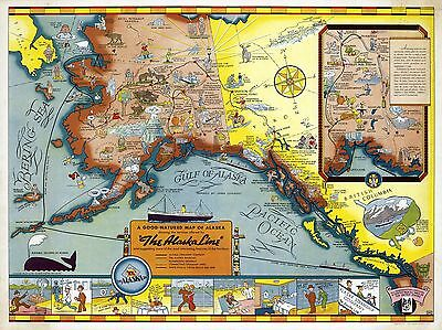 1939 pictorial map humorous New Yorker/'s idea of the United States POSTER 8225