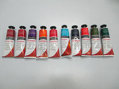 10 TUBES - Daler-Rowney-Georgian-Artist's-Oil-Paint-38ml. (Set A)