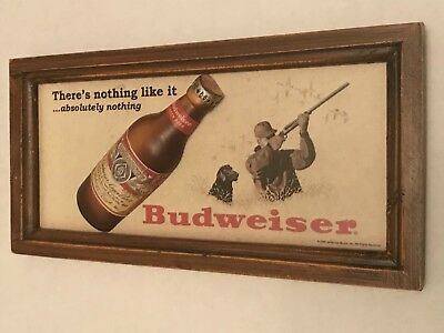 Vintage Budweiser - Anheiser Busch Sign - Rare Bar Advertising - Raised Picture