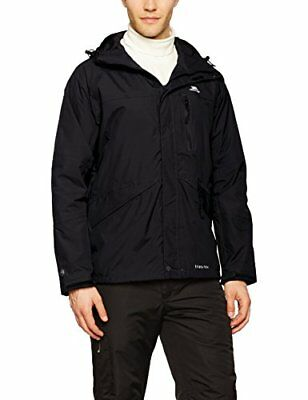 Trespass Mens Corvo Waterproof Jacket, Black, X-Small