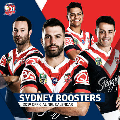 NRL Sydney Roosters Official NRL 2019 Wall Calendar NEW by Paper Pocket