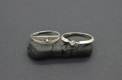 Antiquarian Silver Rings with rock-crystal gemstone. 20 Century