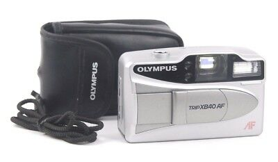 Olympus Trip XB40AF Compact 35mm Retro Automatic Film Camera & Pouch - WORKING