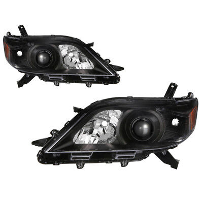 JDM BLACK 2011-2017 Toyota Sienna V6 LE Limited Black Housing Headlights Lamps